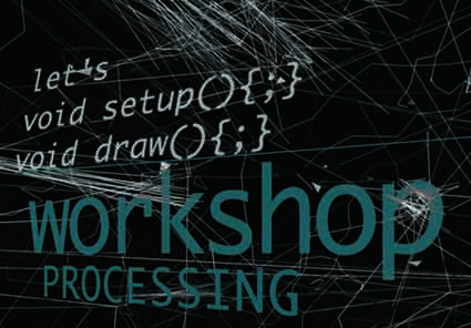 Let's void setup(){;} void draw(){;} workshop com André Sier