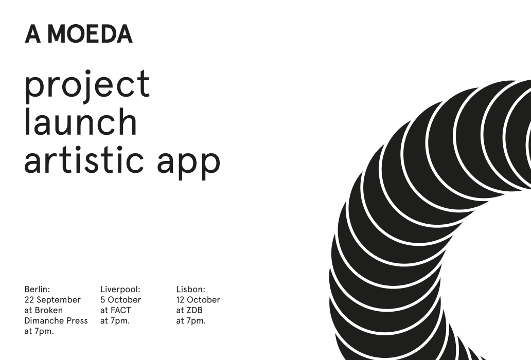 A MOEDA artistic app - project launch